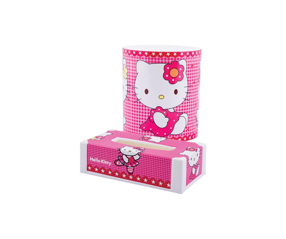 Cartoon Design Dustbin a Tissue Box Set