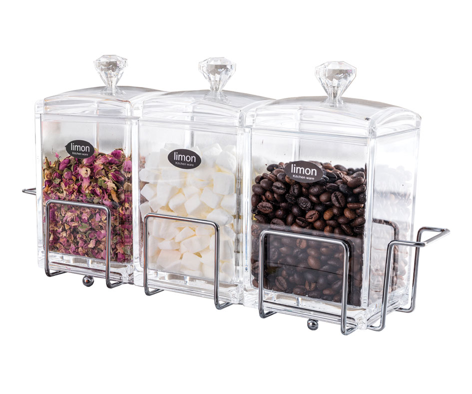 Acrylic Jar set 3 Pices