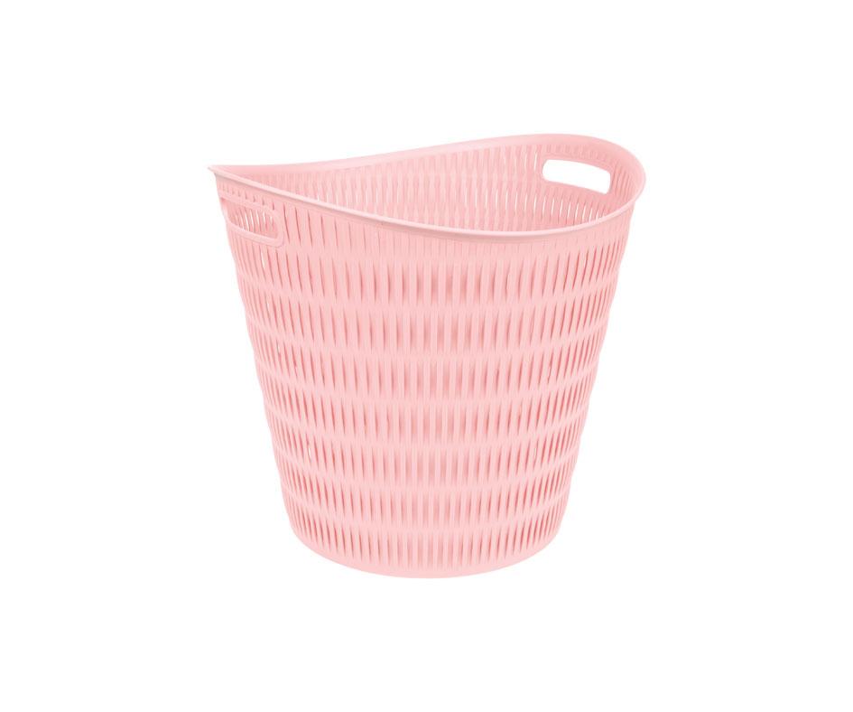 Round Bamboo Laundry Basket
