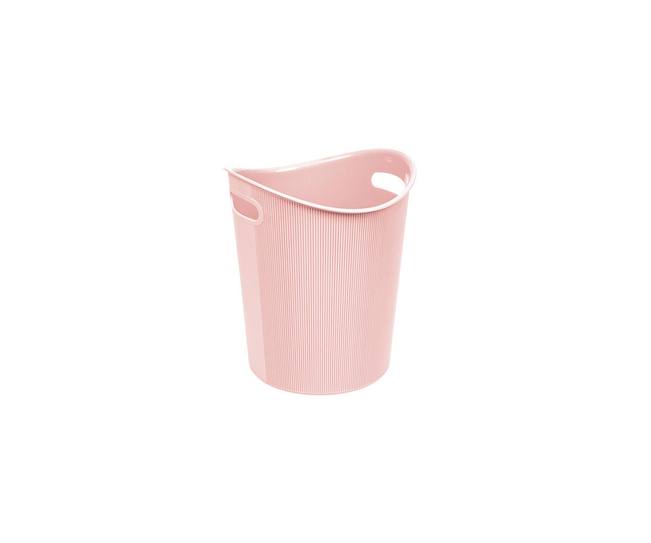 small stripped paper dustbin