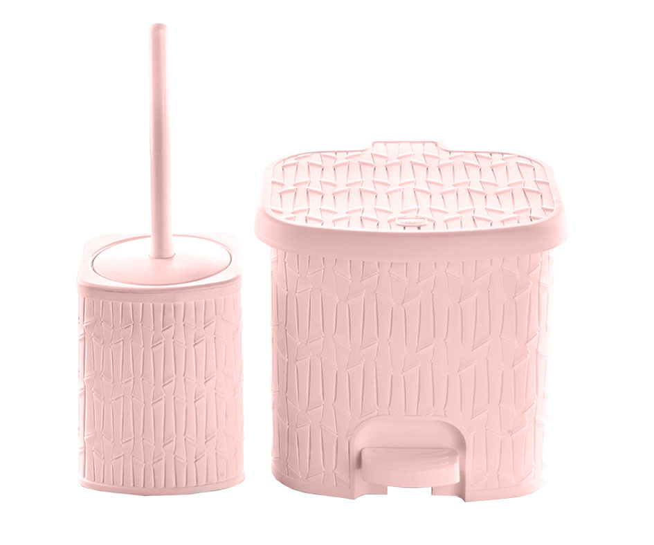 Small Bamboo Dustbin & Brush Set