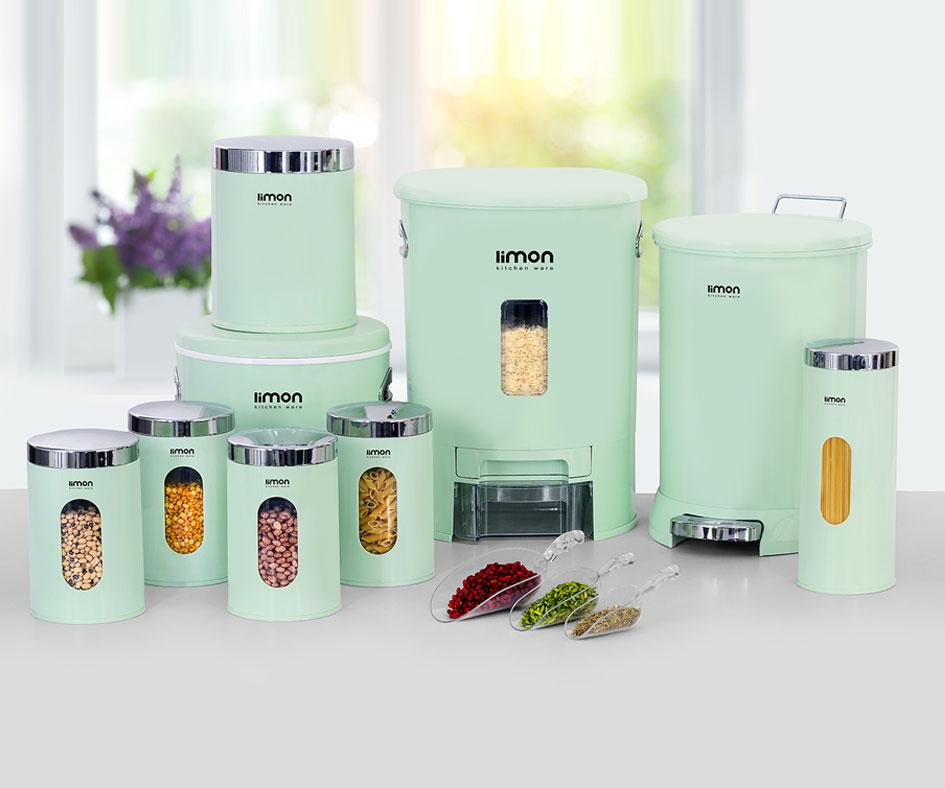 سرویس آشپزخانه لیمون 9 پارچه