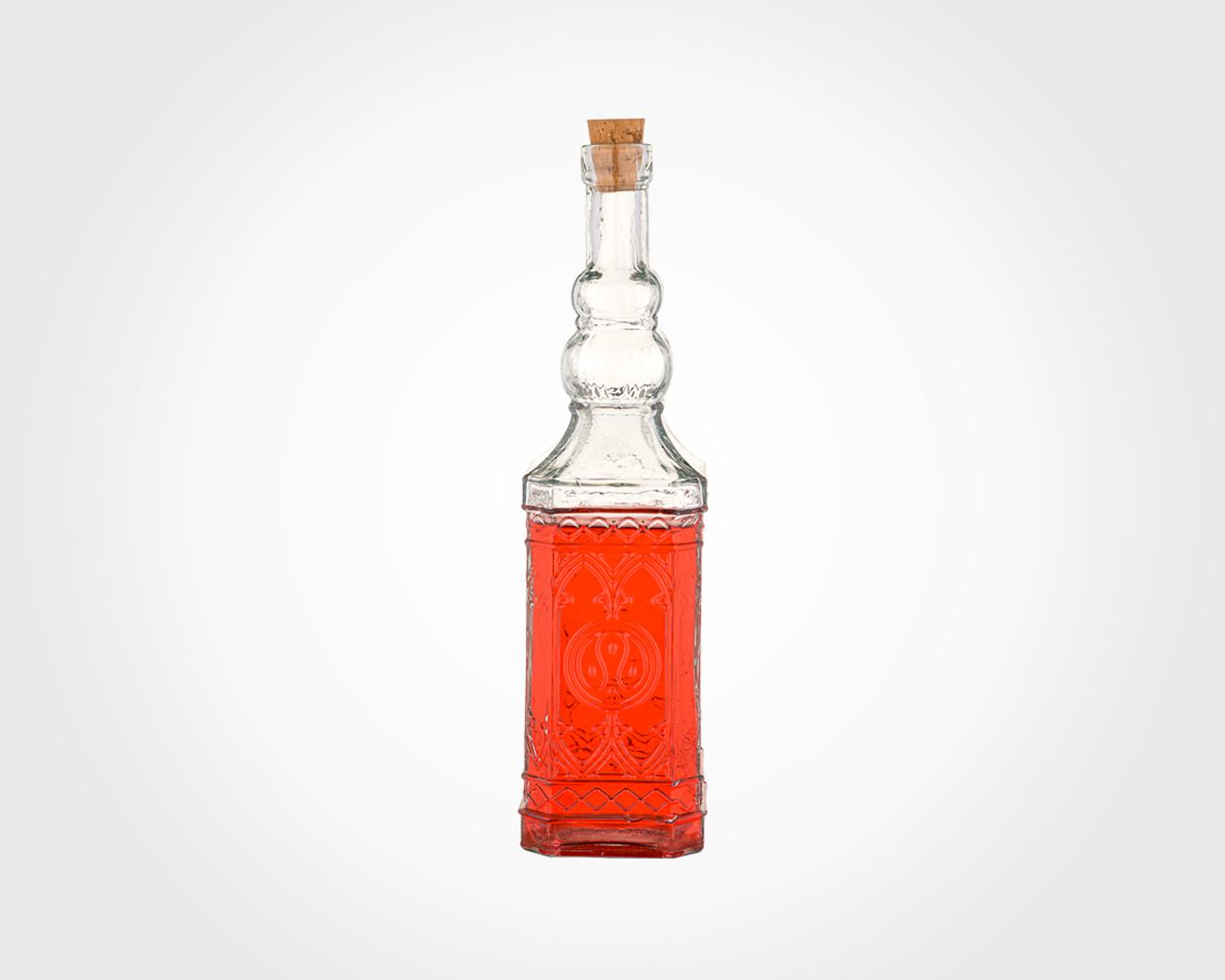 بطری چهارگوش درب چوب پنبه سایز 1