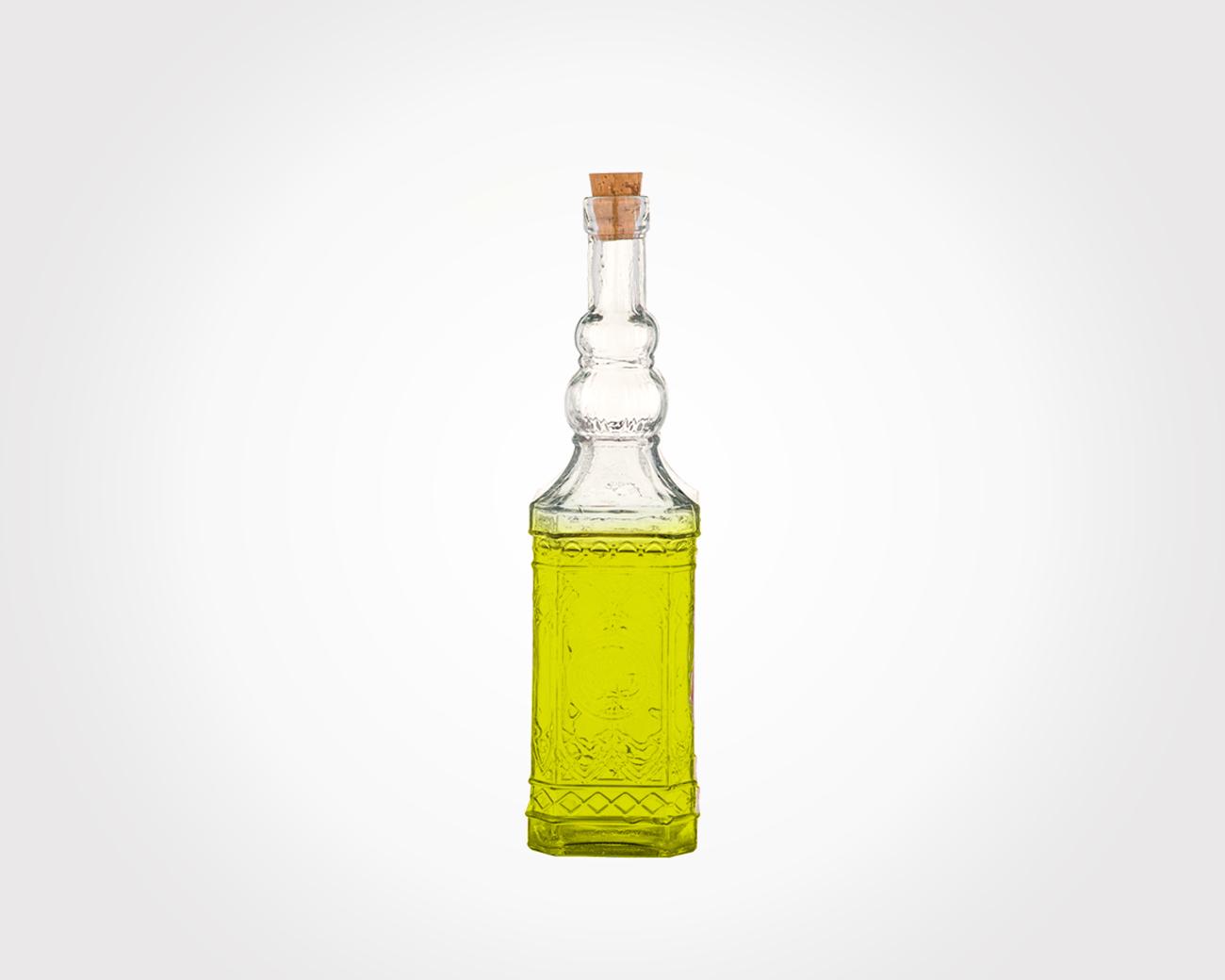 بطری چهارگوش درب چوب پنبه سایز 2