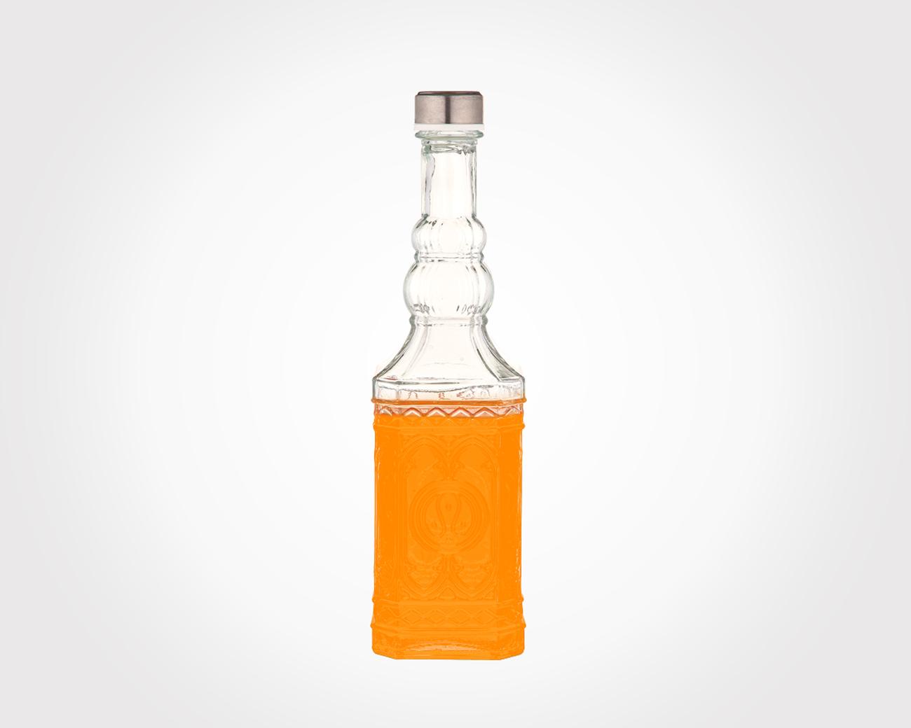 بطری آب چهارگوش درب استیل